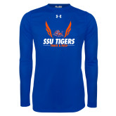 Under Armour Royal Long Sleeve Tech Tee-Track & Field Design