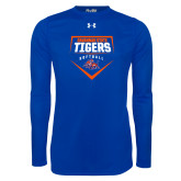 Under Armour Royal Long Sleeve Tech Tee-Softball Plate Design