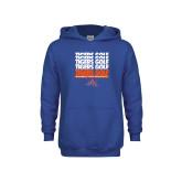 Youth Royal Fleece Hoodie-Golf Design