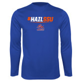Syntrel Performance Royal Longsleeve Shirt-#HAILSSU