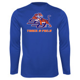 Syntrel Performance Royal Longsleeve Shirt-Track & Field
