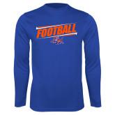 Syntrel Performance Royal Longsleeve Shirt-Football Design