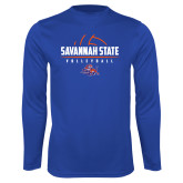 Syntrel Performance Royal Longsleeve Shirt-Volleyball Design
