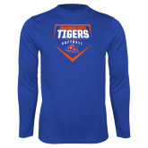 Syntrel Performance Royal Longsleeve Shirt-Softball Plate Design
