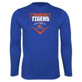 Syntrel Performance Royal Longsleeve Shirt-Softball Plate Design