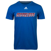 Adidas Climalite Royal Ultimate Performance Tee-Horizontal Mark
