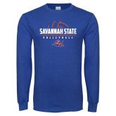 Royal Long Sleeve T Shirt-Volleyball Design