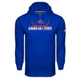 Under Armour Royal Performance Sweats Team Hoodie-Football Field Design