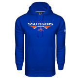Under Armour Royal Performance Sweats Team Hoodie-Stacked Football Design