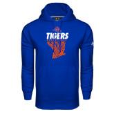 Under Armour Royal Performance Sweats Team Hoodie-Basketball Net Design