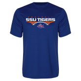 Syntrel Performance Royal Tee-Stacked Football Design