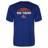 Syntrel Performance Royal Tee-Stacked Basketball Design