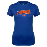 Ladies Syntrel Performance Royal Tee-Football Design