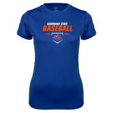 Ladies Syntrel Performance Royal Tee-Baseball Design