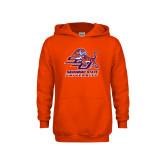 Youth Orange Fleece Hoodie-Official Logo
