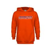Youth Orange Fleece Hoodie-Horizontal Mark