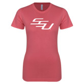 Next Level Ladies SoftStyle Junior Fitted Pink Tee-SSU