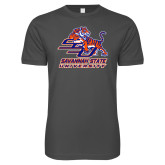 Next Level SoftStyle Charcoal T Shirt-Official Logo