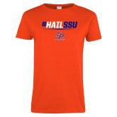 Ladies Orange T Shirt-#HAILSSU