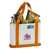 Contender White/Orange Canvas Tote-Official Logo