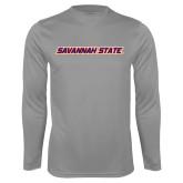 Syntrel Performance Steel Longsleeve Shirt-Wordmark