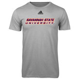 Adidas Climalite Sport Grey Ultimate Performance Tee-Horizontal Mark