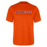 Performance Orange Tee-Wordmark