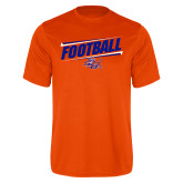 Performance Orange Tee-Football Design