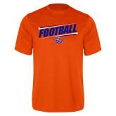 Performance Orange Tee-Football Design