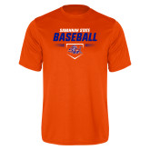Performance Orange Tee-Baseball Design