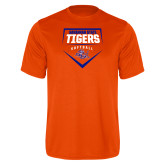 Performance Orange Tee-Softball Plate Design