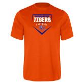 Performance Orange Tee-Softball Plate Design