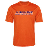 Performance Orange Heather Contender Tee-Horizontal Mark