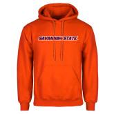 Orange Fleece Hoodie-Wordmark
