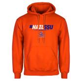Orange Fleece Hoodie-#HAILSSU
