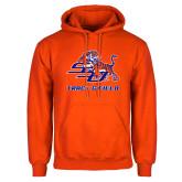 Orange Fleece Hoodie-Track & Field