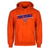 Orange Fleece Hoodie-Football Design