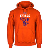 Orange Fleece Hoodie-Basketball Net Design