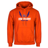 Orange Fleece Hoodie-Track & Field Design