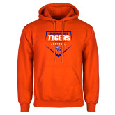 Orange Fleece Hoodie-Softball Plate Design