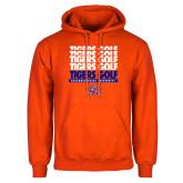 Orange Fleece Hoodie-Golf Design