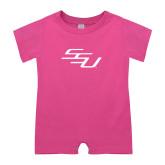 Bubble Gum Pink Infant Romper-SSU