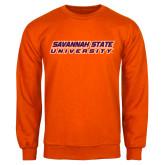 Orange Fleece Crew-Horizontal Mark