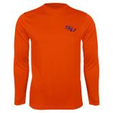 Syntrel Performance Orange Longsleeve Shirt-SSU
