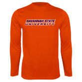 Performance Orange Longsleeve Shirt-Horizontal Mark