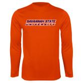 Syntrel Performance Orange Longsleeve Shirt-Horizontal Mark