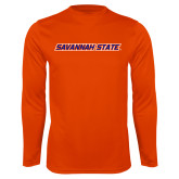 Performance Orange Longsleeve Shirt-Wordmark