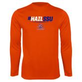 Syntrel Performance Orange Longsleeve Shirt-#HAILSSU