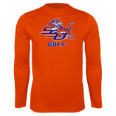 Performance Orange Longsleeve Shirt-Golf