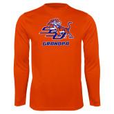 Syntrel Performance Orange Longsleeve Shirt-Grandpa
